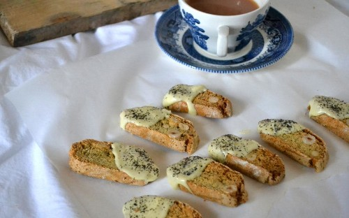 Lady Grey and white chocolate biscotti