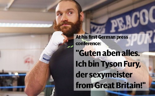 The most outrageous things Tyson Fury has ever said - Telegraph