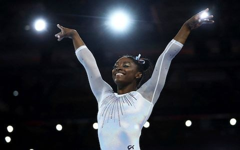 Simone Biles crushes opposition at World Gymnastics Championship before declaring there is still room for improvement