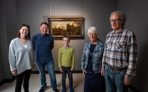 British family reunited with £300k painting looted by Nazis from their ancestors