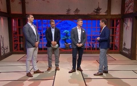 Rugby World Cup presenters criticised for attempting to bring Japan to London studio as they analyse matches in socks