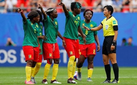 The Cameroon team's disgraceful VAR protests have damaged the reputation of women's football