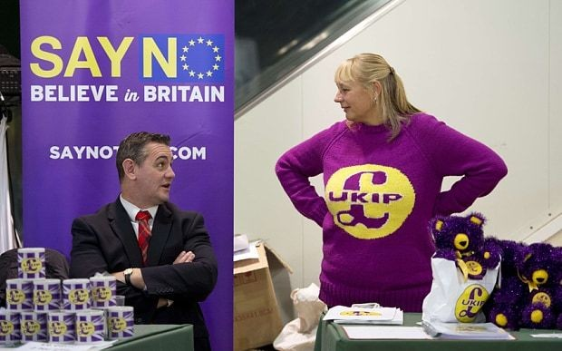 Ukip party conference: civil war rages over EU campaign