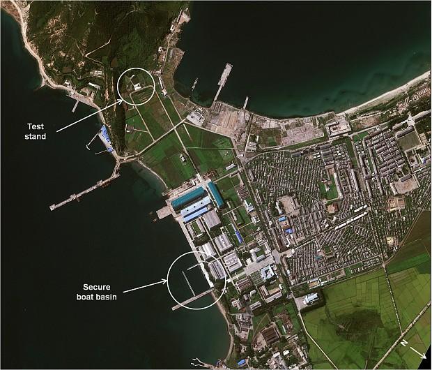 North Korean submarine missile test fails