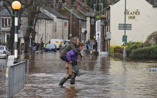 UK Weather: Defiant Cumbrians to celebrate Christmas in waterlogged houses