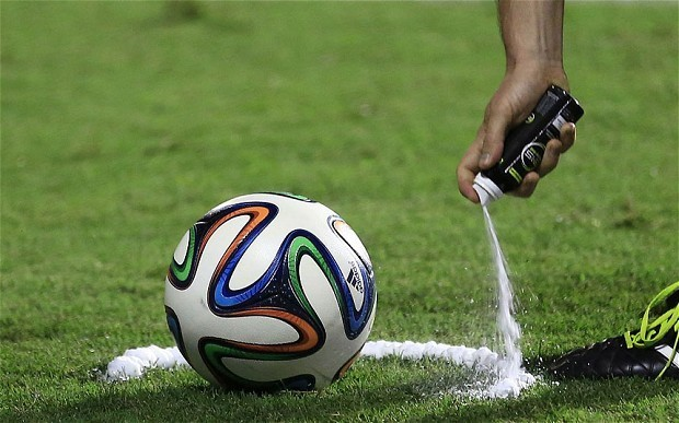 Premier League orders 2,000 cans of vanishing spray following successful introduction to World Cup in Brazil