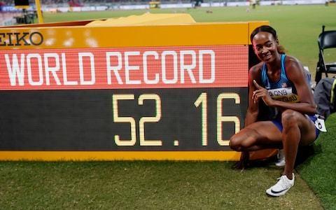 Dalilah Muhammad lowers 400m hurdles world record as Qatari interest finally piqued as Mutaz Essa Barshim wins gold in men's high jump