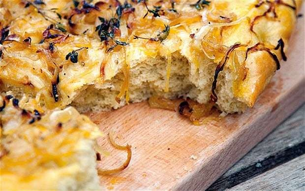 Onion and rapeseed oil focaccia recipe