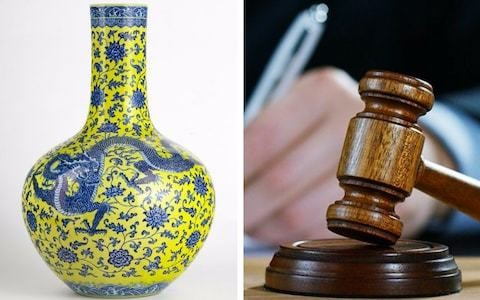 Chinese vase sells for 10,000 times estimated price as auction involving amateur buyer gets way out of hand