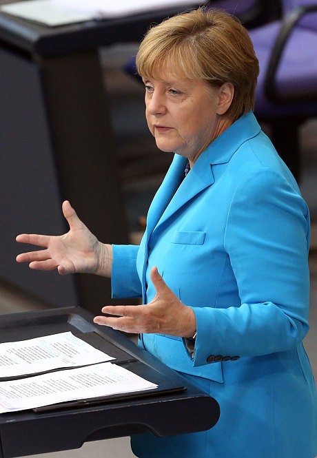 Merkel 'expects Cameron to back EU army' in exchange for renegotiation