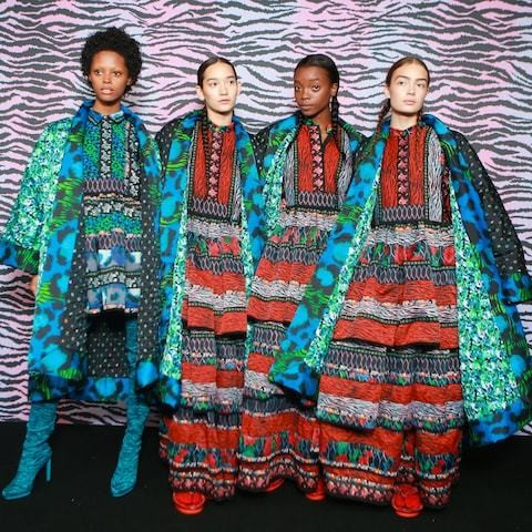 Clothes made for peacocks: Kenzo x H&M's spectacular launch is feted by Iman, Sienna Miller and Lupita Nyong'o