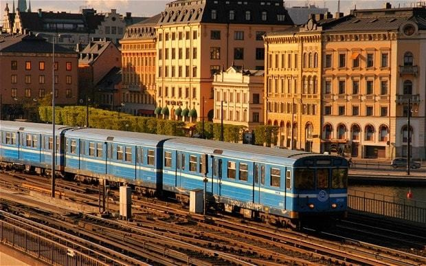 Stockholm's male train drivers wearing skirts to work