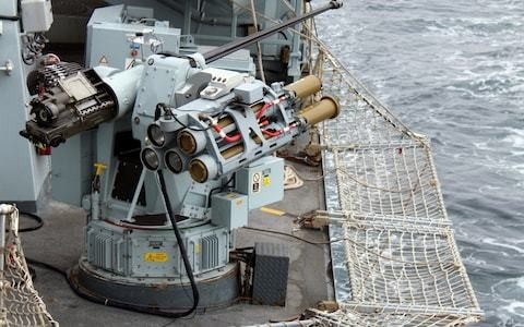 Royal Navy trials new missile to target small boats in wake of tensions with Iran.