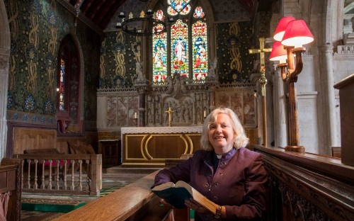 'Not everybody accepts us': England's first female priest on cracking the (stained) glass ceiling