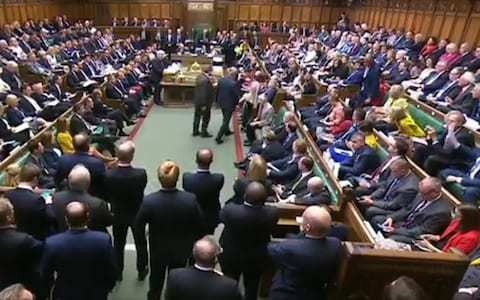 The mood was as sour as old milk. In a raging Commons, the Tories tore themselves apart