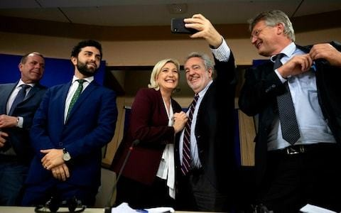 Marine Le Pen launches new anti-EU alliance of far right parties in European Parliament