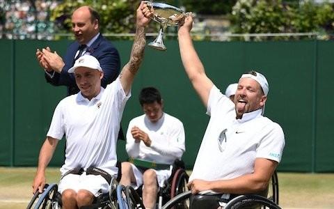 Britain's Andy Lapthorne claims Wimbledon quad wheelchair doubles glory alongside Dylan Alcott