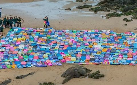 Thousands of plastic bodyboards wash up on Britain's beaches every year