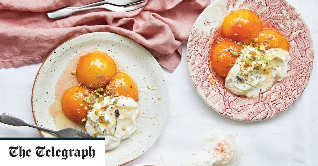Poached apricots or nectarines with honey recipe