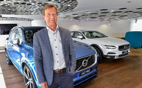 'Dyson should stick to vacuum cleaners', says Volvo chief as he launches first electric car