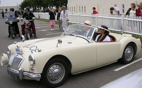 On patrol with a classic MG police car