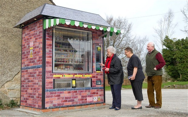 Automated shop for villagers who lost their local stores