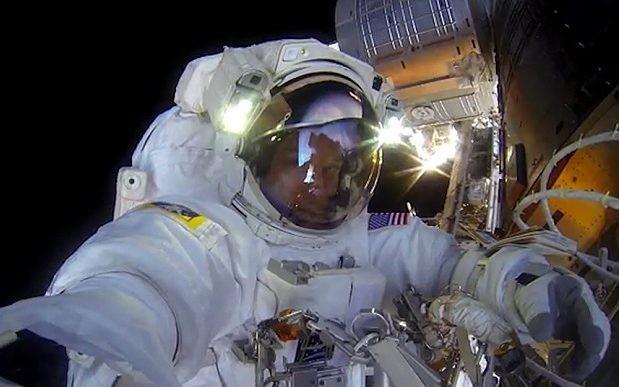 Watch: Nasa astronauts take a GoPro on a spacewalk