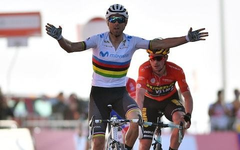 UAE Tour 2019 – stage three results and standings: Alejandro Valverde takes first win as world champion while Primoz Roglic retains overall lead