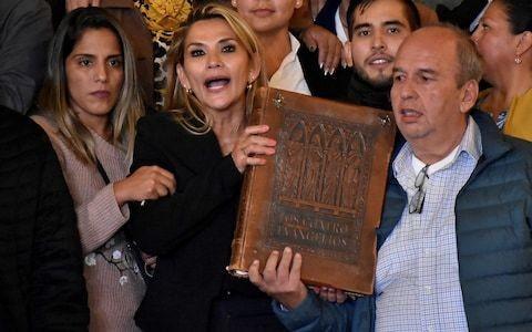 Bolivian Senate head assumes interim presidency