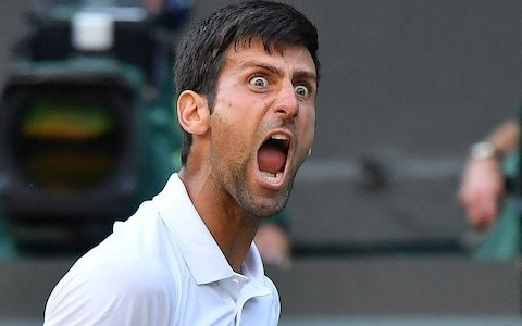 Novak Djokovic annoyed with fans on Centre Court as he takes out Kyle Edmund at Wimbledon