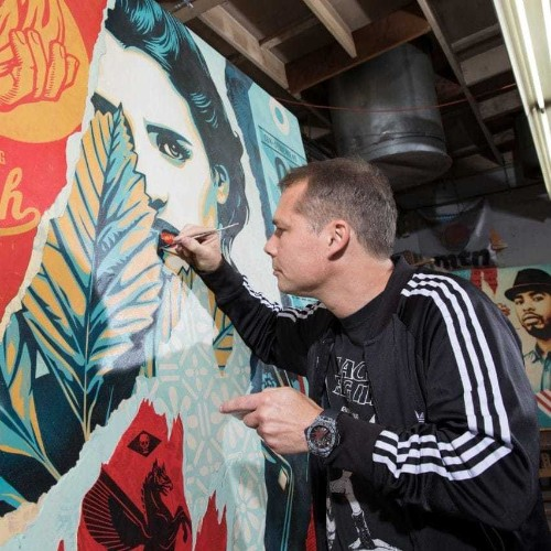 Swiss watchmaking meets street art as Hublot enlists Obama-supporting activist Shepard Fairey