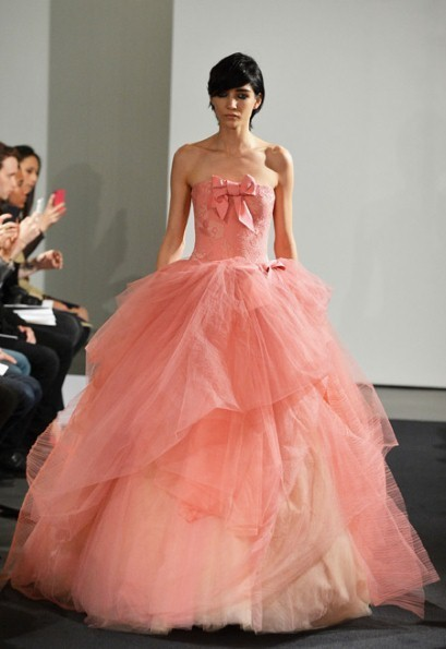 Vera Wang thinks pink at Bridal Fashion Week