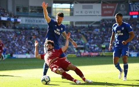 Mohamed Salah did take a theatrical tumble against Cardiff - but a penalty was the correct decision