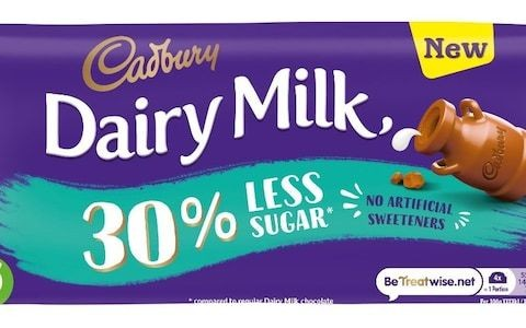 Cadbury's launches 'diet' Dairy Milk as lower sugar bar marks first recipe change in 100 years