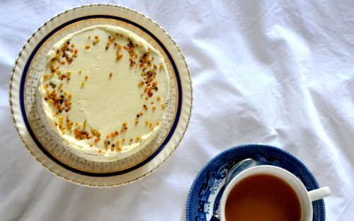 Four-layer Earl Grey and honey cake