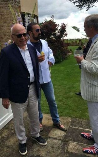 Rupert Murdoch, Nigel Farage and Dr Liam Fox meet at a garden party - what happened when it was live tweeted by Lily Allen?