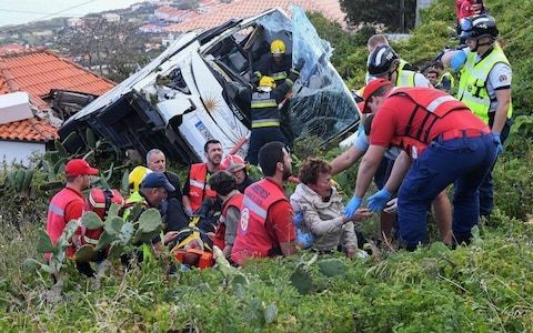 Madeira bus crash: 29 people dead after tourist coach overturns on Portuguese island