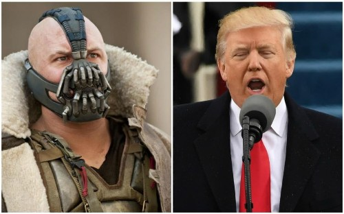 Did Trump quote Tom Hardy's Batman villain in his inauguration speech?