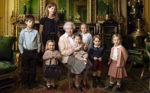 The Queen's birthday: Her Majesty shares the spotlight with great-grandchildren in official portrait to mark her 90th birthday