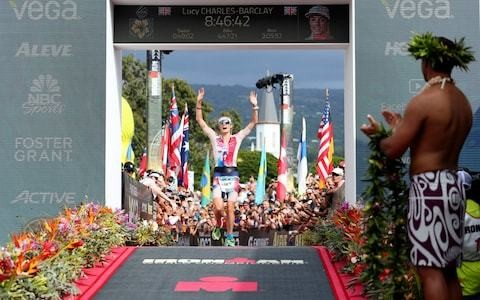 British triathlete Lucy Charles-Barclay battles to second place at Ironman World Championships
