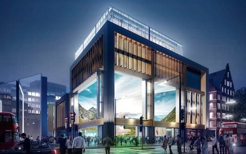 Could this cube covered in high definition screens help save the high street?
