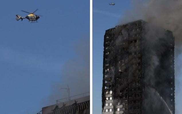 Police helicopters fanned Grenfell Tower flames, relative claims as investigation launched