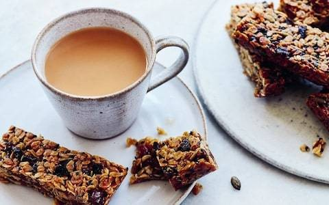 Apricot, ginger and black sesame flapjacks recipe
