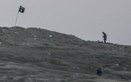 US air strike destroys Islamic State position on Kobane hill