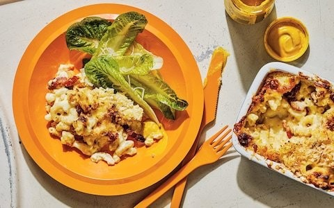 Macaroni cheese with bacon and whisky recipe