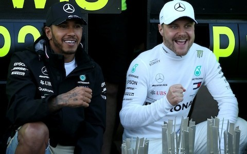 Mercedes warn Lewis Hamilton and Valtteri Bottas they will be handed 'red cards' if relationship turns sour