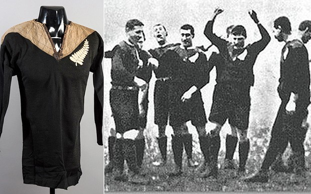 All Blacks shirt worn on New Zealand's first tour of Britain sells for record £22K