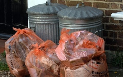 Monthly bin collections force residents to burn their rubbish