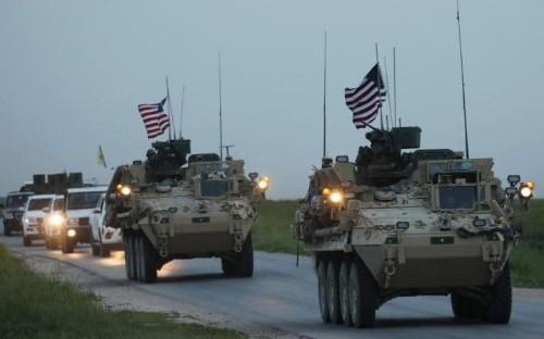 US troops seen patrolling Syria-Turkey border as Washington tries to stop Turkish air strikes on Kurds