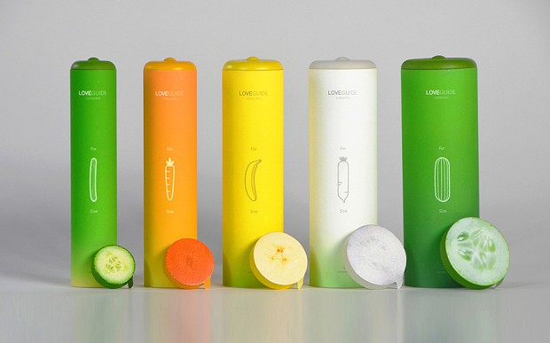 The condom packaging designed to sort the carrots from the cucumbers